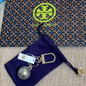 Tory Burch Pearl Logo Key Fob